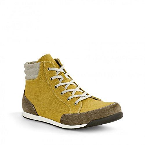 Birkenstock Boots ''Prien'' aus Leder/Textil in senf/taupe mit schmalem Fussbett Senf/Taupe