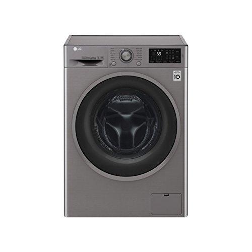 LG F4J6TM8S Independiente Carga frontal A Acero inoxidable lavadora - Lavadora-secadora (Carga frontal, Independiente, Acero inoxidable, Izquierda, Giratorio, Tocar, LED)