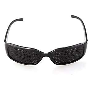 TOMOUNT Lunettes Sténopé Trame Goggles Eyewear Glasses Protection Vue Yeux Noir