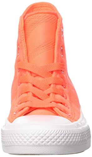 Converse Chuck II Scarpe a collo alto, Uomo Arancione (Hyper Orange/White/Gum)