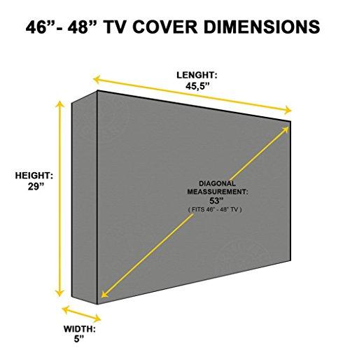 """MagiDeal Universal TV Fernseher Abdeckung Wasserdichte Displayschutzfolie für 46 """" – 48 """" LCD - 5"""