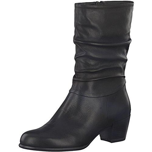 Tamaris Damen Stiefelette 25339-21,Frauen Stiefel,Boot,Halbstiefel,Damenstiefelette,Bootie,Reißverschluss,Blockabsatz 5cm,Black,EU 37