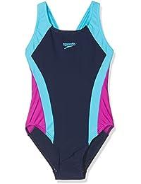Speedo Mädchen Kontrast Panel Splashback Badeanzug, Mädchen, Contrast Panel Splashback