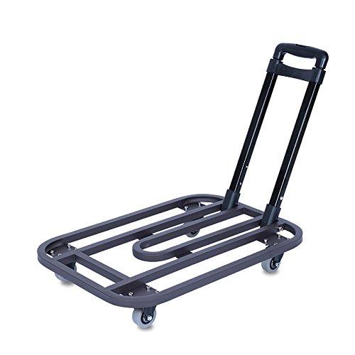 Preisvergleich Produktbild Unbekannt Treppenhaus-Einkaufsgepäck-zusammenklappbare Behandlung-Haushaltswaren-Tragbare Stille Rad-Karren können 225Kg tolerieren (Farbe : Braun,  größe : 2-inch Wheel)