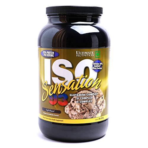 Ultimate Nutrition Iso Sensation 93 (2lbs) Cafe Brazil - 2 Lb Muskelaufbau