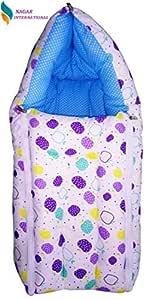 Nagar International Baby's Cotton Sleeping Bag Cum Baby Quilt Double Apple (Purple Cotton)