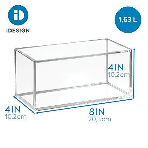iDesign Organizador de maquillaje y cosm/éticos transparente organizador de cajones extrapeque/ño de pl/ástico libre de BPA cocina y oficina caja apilable para ba/ño