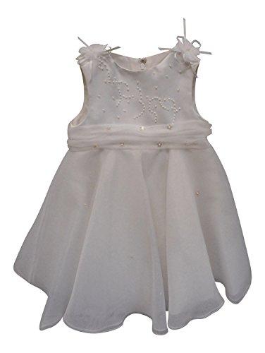 Girls occasione battesimo formale e vestito da festa bianco bianco