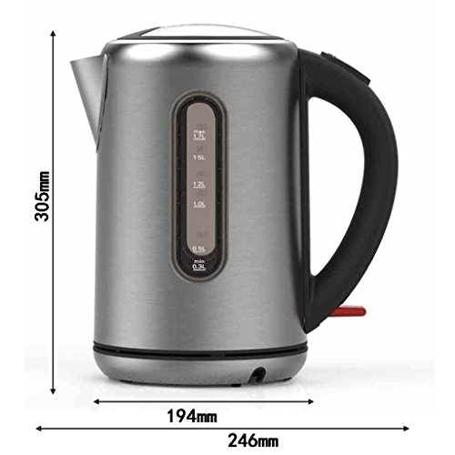 electric kettle XXGI Household 1.7L Anti-Hot Food Grade 304 Stainless Steel Large Capacity (246*194*305Mm)