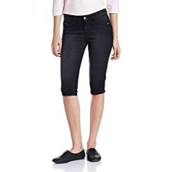 Jealous 21 Women's Cropped Jeans (JY2025_Black_30)