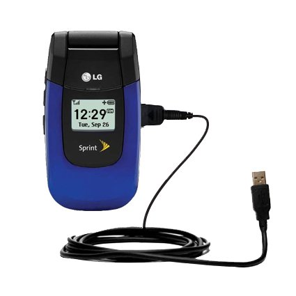 Klassisches Direkt-USB-Kabel für LG LX-150 mit Power Hot-Sync und Ladekapazitäten Verwendet die TipExchange Technologie