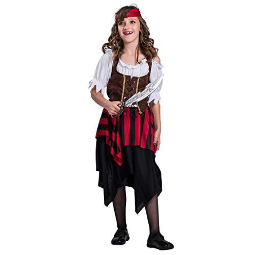 EraSpooky Mädchen Piratenkostüm Faschingskostüme Cosplay - Halloween Party Karneval Fastnacht Piratin Kostüm
