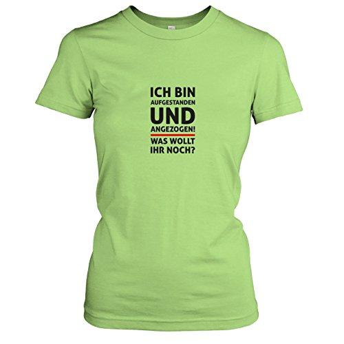 Texlab - Aufgestanden und angezogen - Damen T-Shirt, Größe XL, Kiwi -