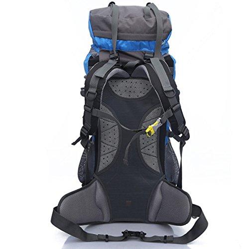 Borsa Da Montagna All'aperto Escursionismo Escursionismo Campeggi Uomini E Donne Borsa A Tracolla Doppia Grande Capacità 65L,Red Yellow