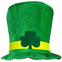 Ouken Traje de Duende Sombrero del Partido irlandés del día del trébol  anticuado Sombrero Verde de 5be98efe706