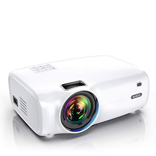 WiMiUS Videoproiettore, 4500 Lumen Mini Proiettore Portatile Nativa 1280*720P Suppoto 1080P Full HD...