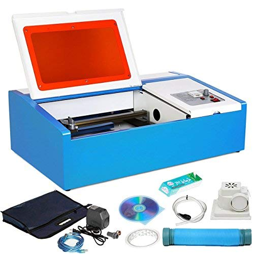 ZauberLu 40W Lasergravurmaschine Graviermaschine mit USB-Anschluss CO2 Lasergravierer Laser Engraver für Leder Holz Acryl usw.