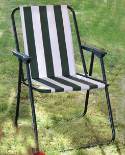 Kingfisher Picnic Camping Beach Chair Folding Lightweight With Arms - Patios Decking produced - quick delivery from UK.