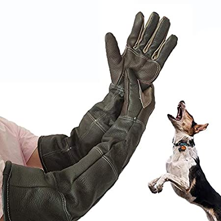 Anti-Biss-Schutzhandschuhe, Perfecthome-Handschuhe für den Haustierhandschuh, verstärktes Leder für Hunde- und Gartenhandschuhe