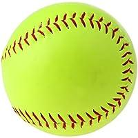 FLAMEER Balón de Sófbol con Cubierta Lisa Duradera de Juegos y Prácticas de Softball de Lanzamiento Lento y Rápido para Jovenes