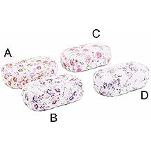 Estuche para lentillas - Modelo flores (9.6x5.7x3 cm) - A