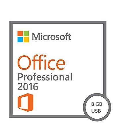 8 GB USB Drive + Microsoft Office Professional Plus 2016 für 1 PC | PRO VOLLVERSION