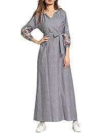 Zhhlaixing Abaya Modest Vestido de la Túnica Larga Maxi Formal Elegent Fiesta de Vestir Vestidos de