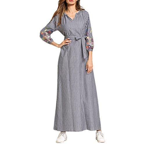 Zhhlaixing Abaya Modest Vestido de la Túnica Larga Maxi Formal Elegent Fiesta de Vestir Vestidos de Señoras Mujer Kaftan Marruecos