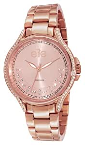 Elite Models' Fashion - E53484G-812 - Montre Femme - Quartz Analogique - Cadran Rose - Bracelet Acier Rose