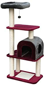nobby chogan 63065 68 arbre chat bordeaux gris animalerie. Black Bedroom Furniture Sets. Home Design Ideas