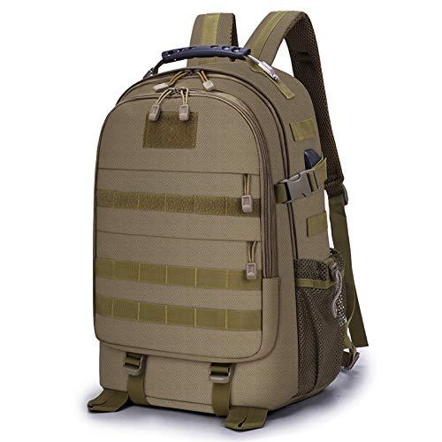 Huntvp 35L Taktischer Rucksack USB Molle Schultasche Wasserdicht Laptop Rucksack Wanderrucksack Trekking Daypack Tagesrucksack Sportrucksack Outdoor Fahrradrucksäcke Ultraleicht - Braun