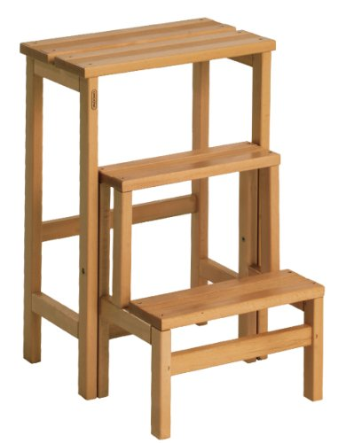 Holz Klapptritt Hocker (Valdomo 156/12sgabellone suegiù Maßstab aus Holz Buche, Walnuss, Holz Walnuss)
