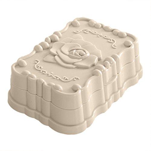 dragonaur Rose-Muster, Kunststoff mit Auslauf-Behälter-Auflaufform mit Tasche, plastik, beige, S (Kunststoff-soap-tasche)