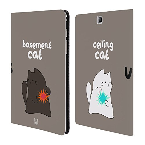 Head Case Designs Epic Battle Ceiling Cat Vs Basement Cat Cover a portafoglio in pelle (Pelle Epi Portafoglio)