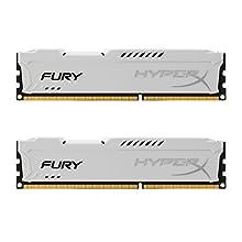 HyperX HX318C10FWK2/8 Fury 8 GB (2 x 4 GB), 1866 MHz, DDR3, CL10, UDIMM, 1.35V, Bianco