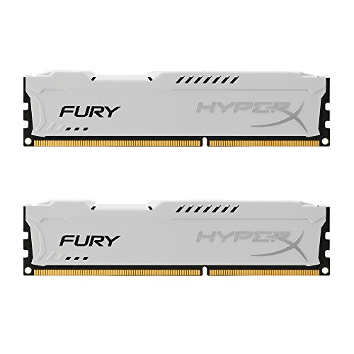 Kingston HyperX Fury HX316C10FWK2/16 Arbeitsspeicher 16GB (1600MHz, CL10, 2x 8GB) DDR3-RAM Kit weiß