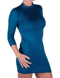 Eyecatch - Seraphina BodyCon Damen Polo Turtle Neck Jersey Kleid Top