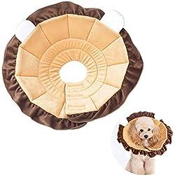 HOTSO Collar Recuperación para pajaros y loros, Suave Cono Protector para el Cuello de Mascotas Collar Plegable y Lavable para Anti-mordida, Cirugía o Curación de Heridas Size XL(30-39cm)