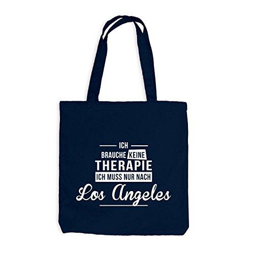 Jutebeutel - Ich Brauche Keine Therapie Los Angeles - Therapy Urlaub USA Navy