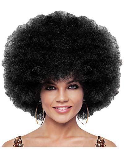Schwarze Jumbo Afro Perücke - Horror-Shop Schwarze Jumbo Afro Perücke Deluxe