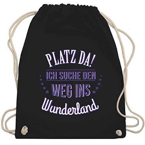- Ich such den Weg ins Wunderland - Unisize - Schwarz - WM110 - Turnbeutel & Gym Bag ()