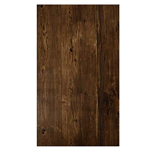 YJZ Zurück Holz Tapete Holz Panel Tapete Wasserdichte Vinyl Faux Effekt Strukturierte Wand Papier Dekoration Für Home Kitchen Bad,5Darkbrown (Wand Papier Dekoration 3d)