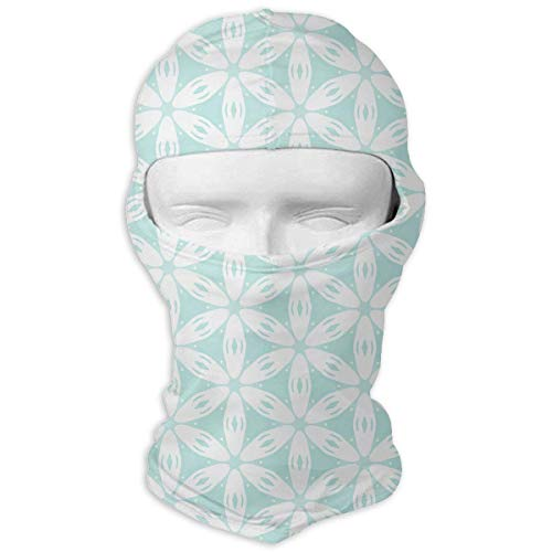 Vidmkeo White Daisy Chain Full Face Mask Sun Dust Wind Protection Durable Breathable Seamless Face Mask Bandana Design8