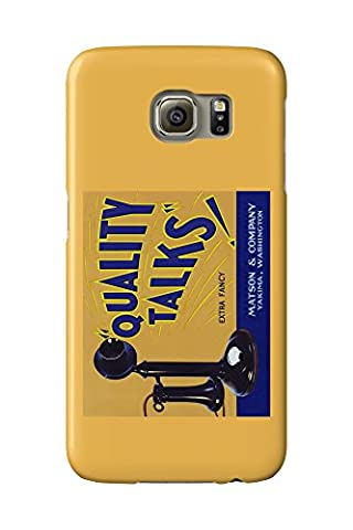 Yakima, Washington - Quality Talks Brand Apple Label (Galaxy S6 Cell Phone Case, Slim Barely There)