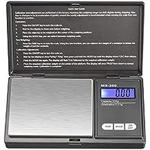 ZHANGYUGE Báscula electrónica de precisión de Bolsillo portátil LCD Digital básculas de Joyería Peso Balanza de