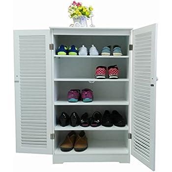 WoodLuv Free Standing Tall Hallway Bedroom Bathroom Shoe Rack ...