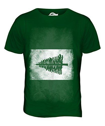 CandyMix Norfolkinsel Verblichen Flagge Herren T Shirt Flaschengrün