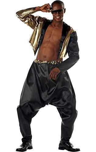Old School Rap Kostüm - California Kost-m Kollektionen CC00789-SM Mens Old School Rapper Kost-m Klein-Med