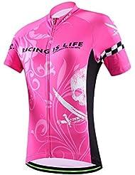 Weelly Cyclisme Maillot à manches courtes en jersey pour femme