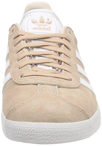 adidas Women's Gazelle W Gymnastics Shoes, Grey (Ash Pearl S18/Ftwr White/Linen), 8 UK